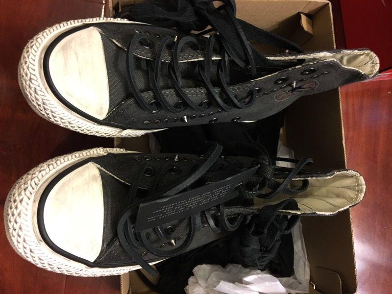 New converse x varvatos ct hi black white size men 4 women 6