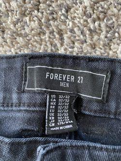 Men's Forever 21 Biker Denim Jeans Thumbnail