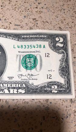 Original 2 dollar bill Thumbnail