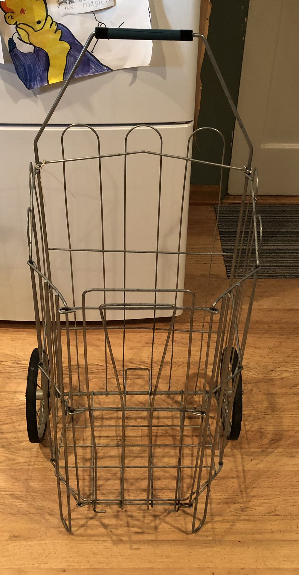 Vintage Grocery Cart With Postal Liner