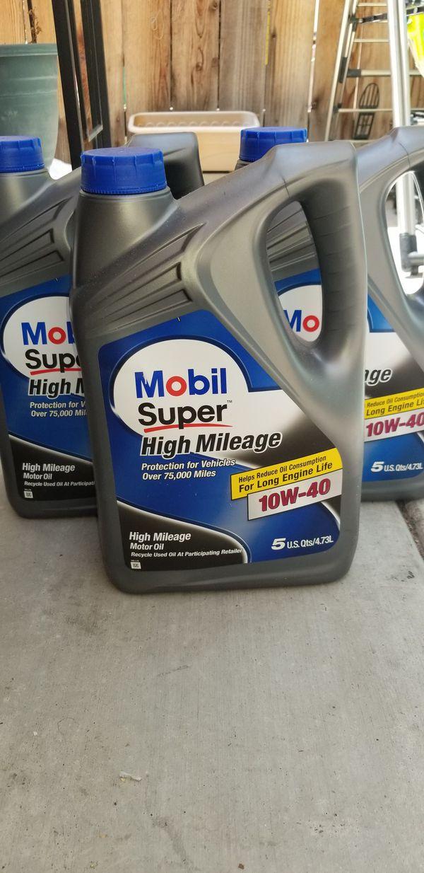 Mobil Super High Mileage Motor Oil 10w40 For Sale In Riverside Ca