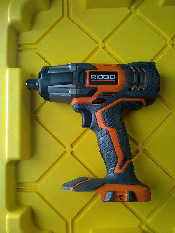 X4 Ridgid 18v Impact Wrench Driver R86010 On 1 2 Drive No Battery Or Charger