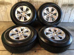 "Photo 2019 Chevy Tahoe Suburban Silverado 17"" Wheels Rims Tires 255/70/17 NEW"