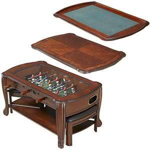 3-in-1 Foosball card table coffee stand with triangle stools for Sale in Purcellville, VA