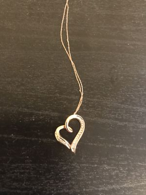 Rose gold heart diamond necklace for Sale in Washington, DC