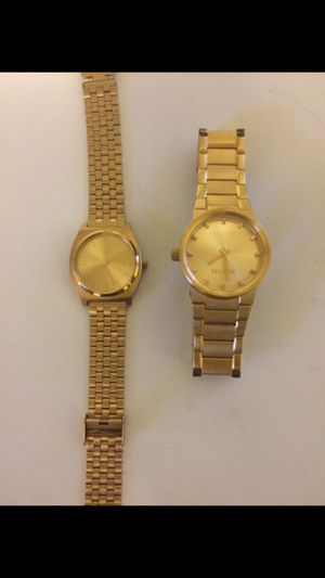 Gold Nixon Watch (left sold) $100 obo for Sale in Los Angeles, CA
