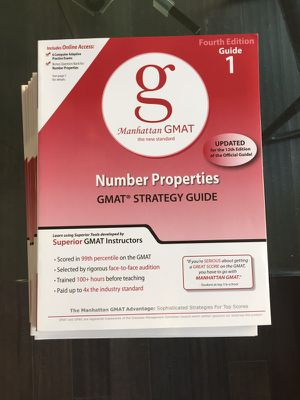 Manhattan GMAT Set of 8 Strategy Guides, Fourth Edition (Manhattan GMAT Strategy Guides) for Sale in Ashburn, VA