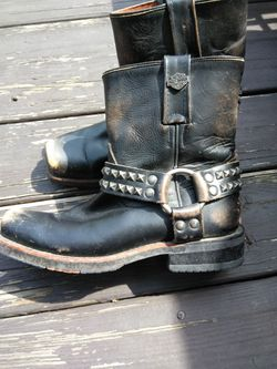 Harley Ankle Boots Studded Size 6.5 Thumbnail