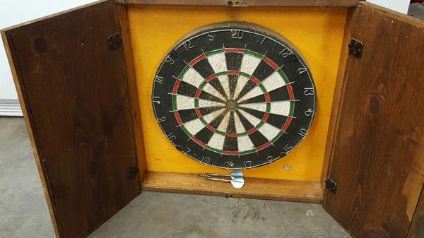 - Antique Dart Board In Cabinet (Antiques) In Yakima, WA - OfferUp
