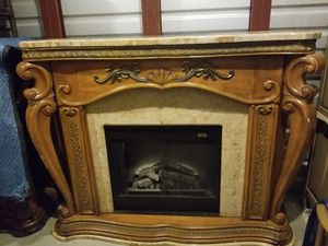 Aico fireplace with marble and remote for Sale in Chantilly, VA