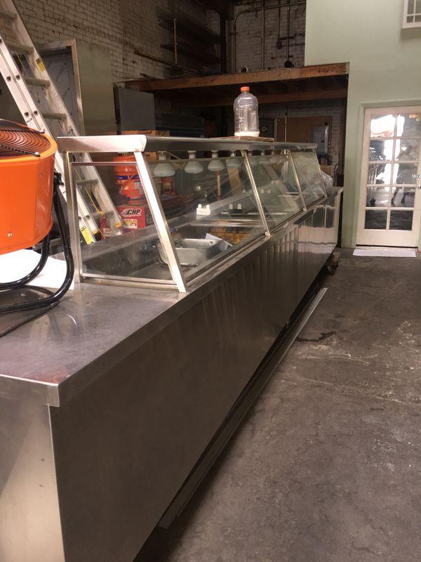Heated Display Case Restaurant Equipment 18 Long 34