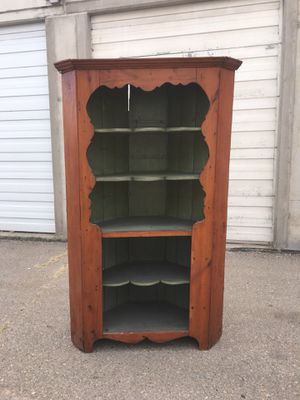 1700s Early American Corner Cupboard for Sale in Salt Lake City, UT