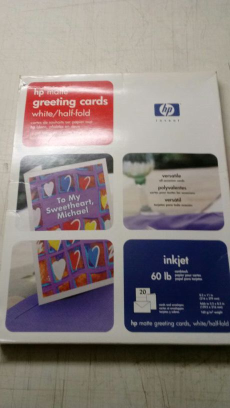 Hp matte greeting card for sale in chicago il offerup 10 m4hsunfo