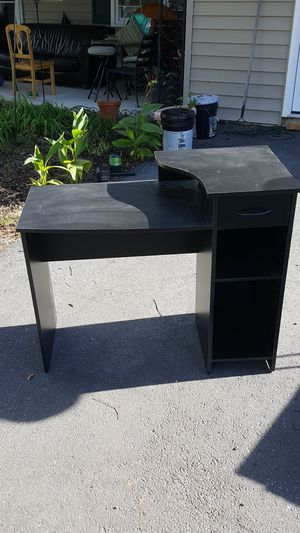 black computer desk with one draw for Sale in Bowie, MD