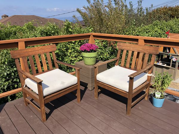 teak outdoor club chairs for sale in seattle wa offerup