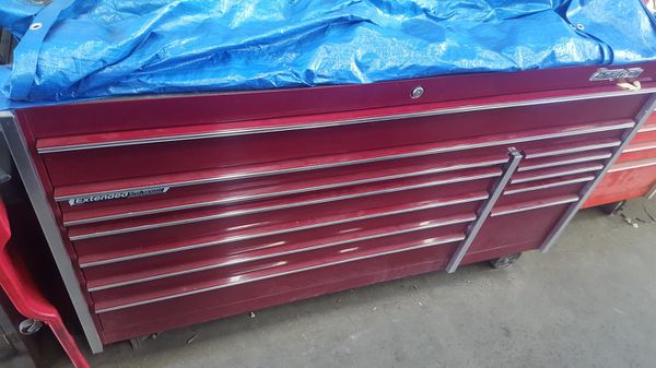 krl1032 72 inch master series snap on tool box. cranberry red. obo ...