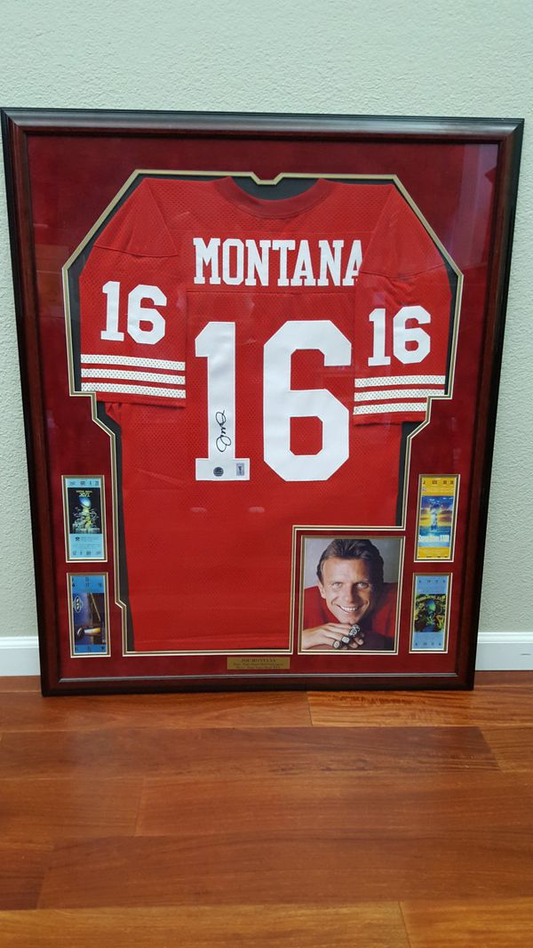 release date 366bd 5b2e4 Joe Montana signed jersey for Sale in Hayward, CA - OfferUp