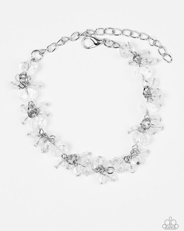 Paparazzi Accessories Silver With Clear Beads Bracelet Jewelry In Boca Raton Fl Offerup
