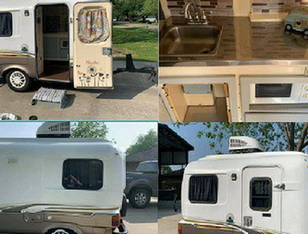 Photo This is an Vintage Camper amazing looks. It large and roomy.