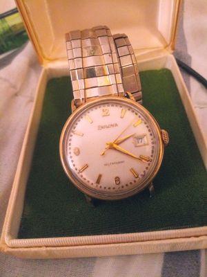 Photo Vintage bolva men's 14K rgp watch