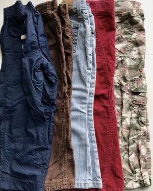 Lot of 5 Fall Winter Pants Jeans Cargo girl Size 4 T Kids clothes for Sale in Alexandria, VA