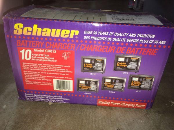 Chevy Rims For Sale >> SCHAUER 10 AMP BATTERY CHARGER 6V 12V MODEL CR612 for Sale ...