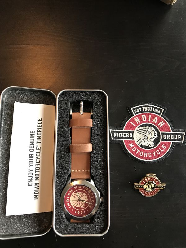 Indian Motorcycle Watch And Patch Pin For Sale In Everett