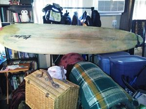 9 foot 4 inch long board surfboard surfing Becker soft nose full wax for Sale in Garden Grove, CA