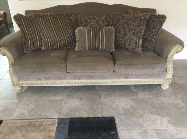 Ashley Ashley Furniture Parkington Bay Platinum Loveseat And Sofa