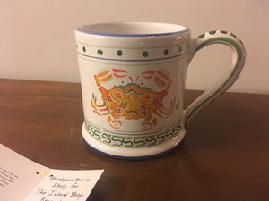 Beautiful hand-painted ceramic crab mug for Sale in Silver Spring, MD
