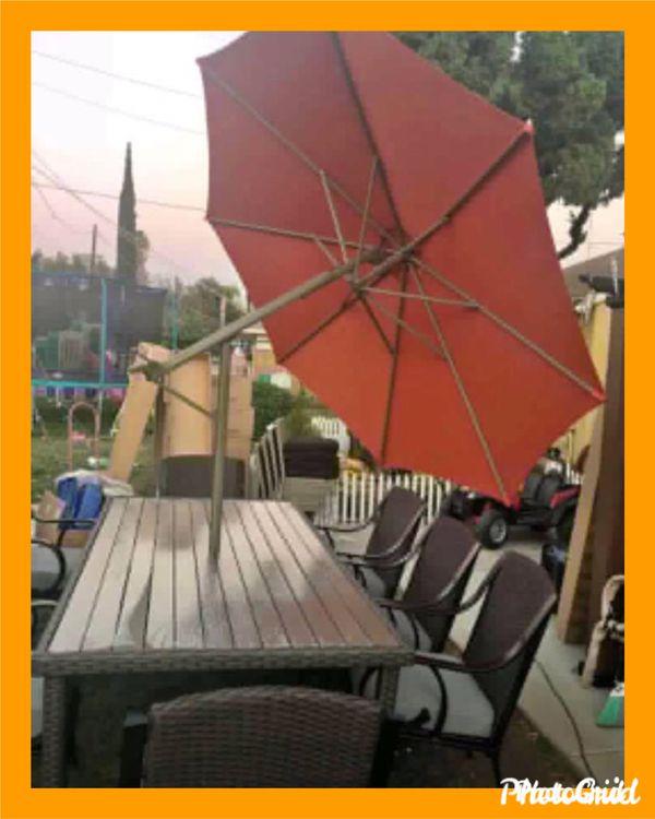 New Sunbrella Outdoor Umbrella Orange 50 No Base For Sale