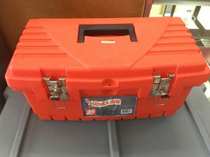 Orange tool box with tools for Sale in Fort Meade, MD
