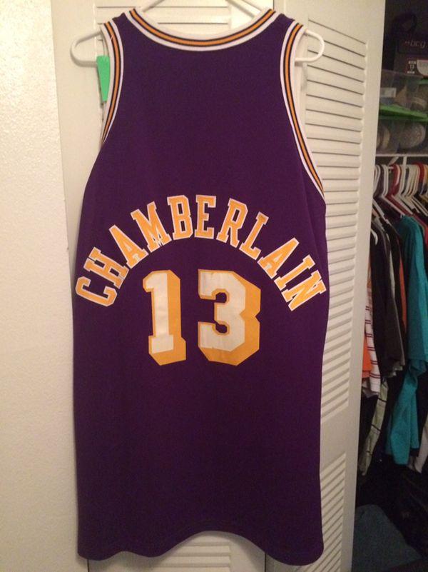 meet 88bb0 3691e Wilt Chamberlain Jersey: #13 Purple Hardwood classic Men's Mitchell and  Ness NBA Los Angeles for Sale in Saint Cloud, FL - OfferUp