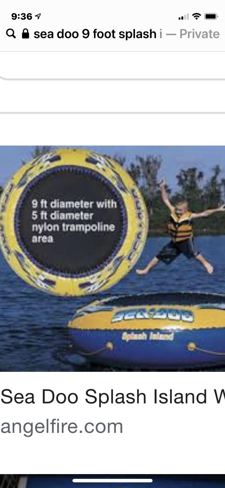 Photo Sea Do Splash Island Water Trampoline