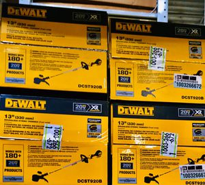 Photo Dewalt Weed Eater DEWALT 20-Volt MAX Cordless Brushless Dual Line String Grass Trimmer (Tool Only) Brand New