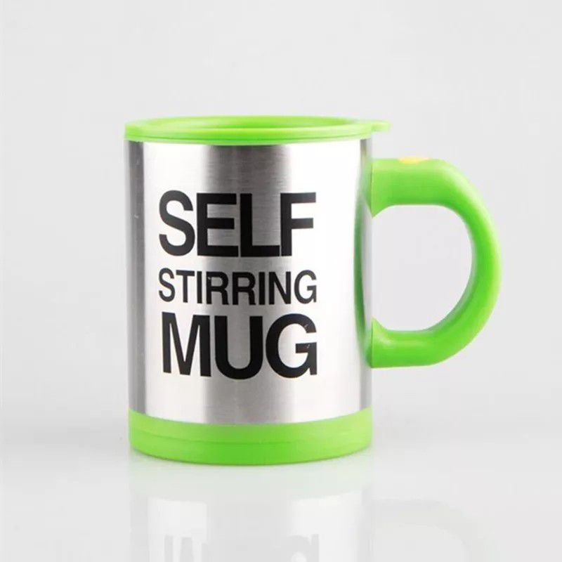 Self Stirring Coffee Mug Cup - 400ml Automaticl Electric Stainless Steel Self Mixing & Spinning Home Office Travel Mixer Cup