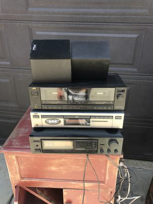 Home stereo system. Exc. Condition. Tuner, cd player and dual tape player. Includes home speakers for Sale in Temecula, CA