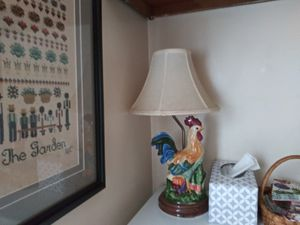 Rooster Lamp ceramic with shade for Sale in Richmond, VA