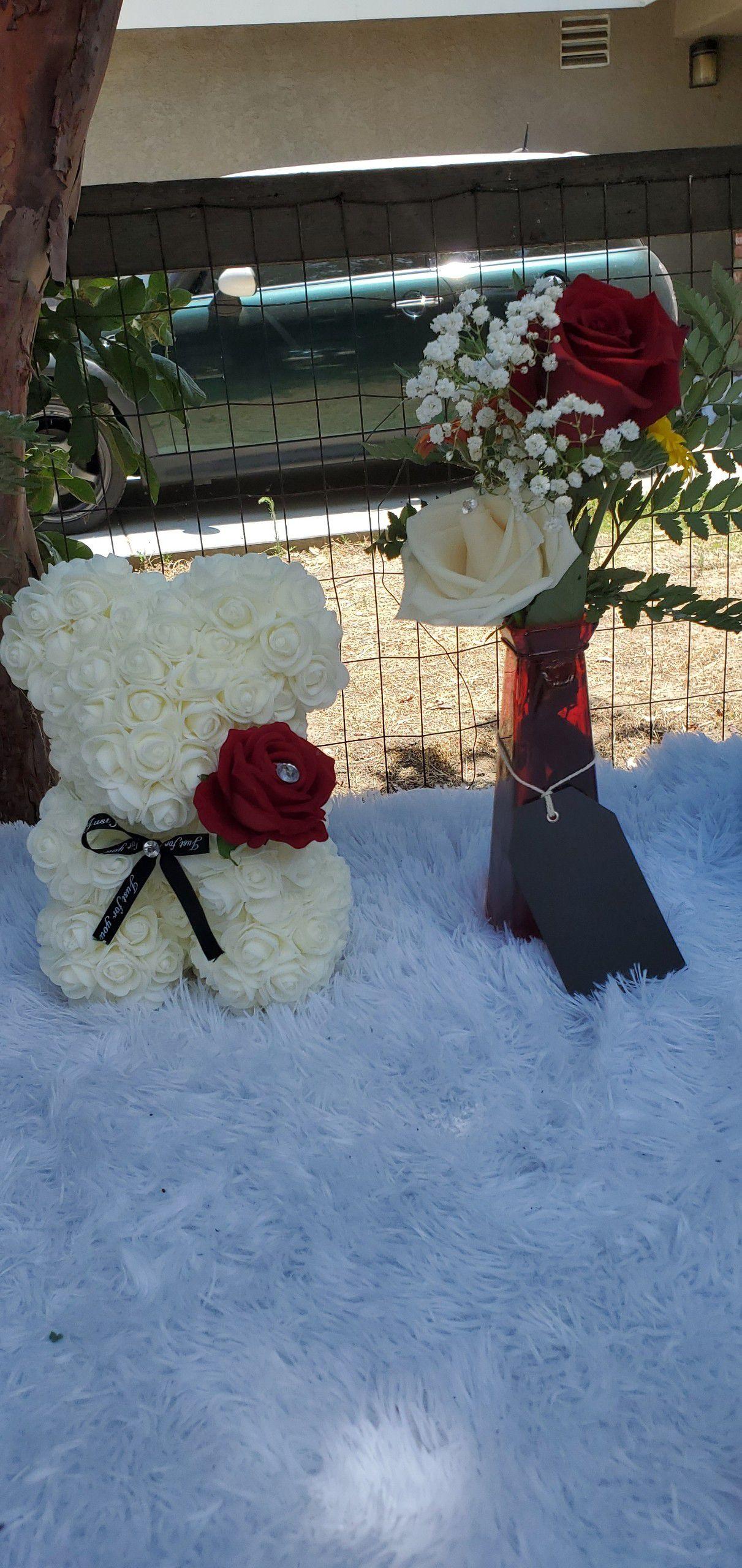Small rose bear bundle set 💛