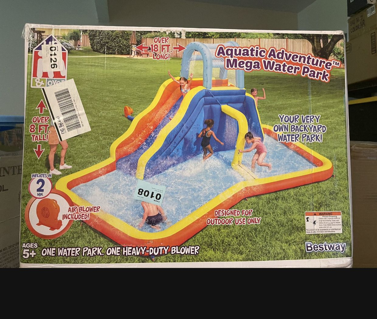 Photo Aquatic Adventures Mega Water Park Inflatable With Blower!!!!