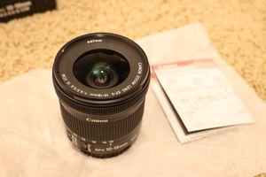 Canon EF-S 10-18 wide angle lens for Sale in Fairfax, VA