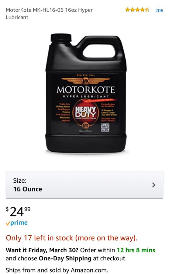 motorkote hyper lubricant reviews