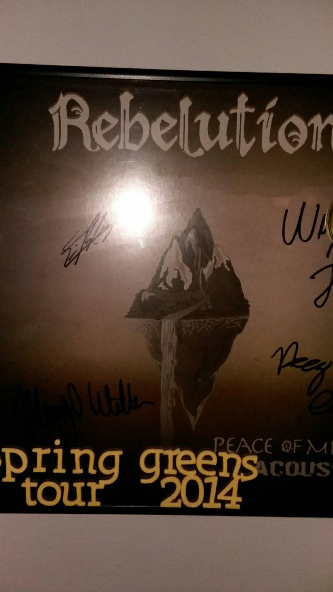 Rebelution peace of mind autographed vinyl