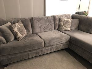 2-Piece Gray Sectional with Left-Facing Chaise for Sale in Alexandria, VA