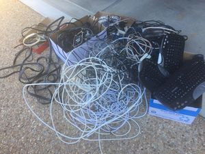 """""""Miles of mostly AV and computer cables, some keyboards and other stuff. Selling it all for $25. for Sale in Glen Allen, VA"""
