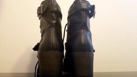Black rocket dog boots Thumbnail