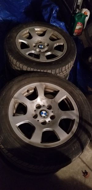 """BMW 740IL 2001 factory rims with tires 16"""" for Sale in Falls Church, VA"""