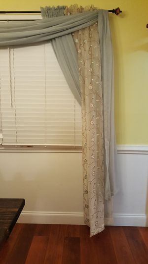Sheer voile scarf valance for Sale in Virginia Beach, VA