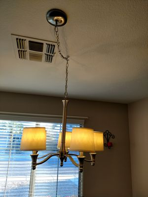 Brushed nickel 5 bulb light fixture for Sale in Phoenix, AZ
