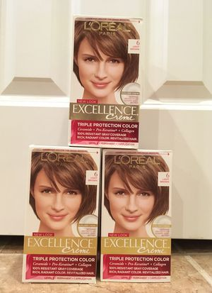Set of 3 Loreal Excellence Creme light brown haircolor for Sale in Alexandria, VA